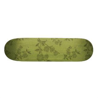 Light Green Vintage Wallpaper Skate Deck