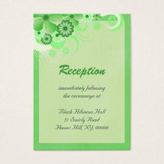 Light Green Wedding Reception Enclosure Cards