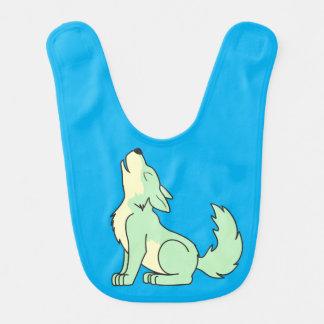 Light Green Wolf Pup Howling Bibs