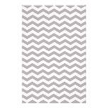 Light Grey And White Zigzag Chevron Pattern Personalized Stationery
