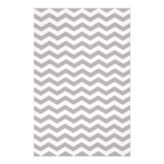Light Grey And White Zigzag Chevron Pattern Stationery