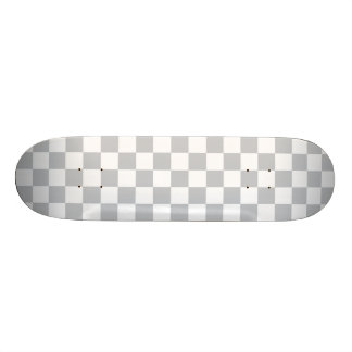 Light Grey Checkerboard 20 Cm Skateboard Deck