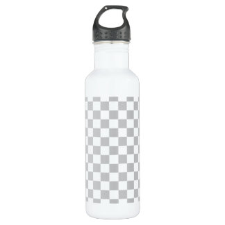 Light Grey Checkerboard 710 Ml Water Bottle