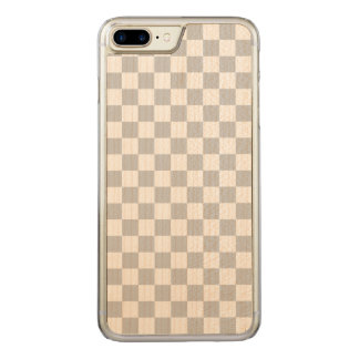 Light Grey Checkerboard Carved iPhone 8 Plus/7 Plus Case