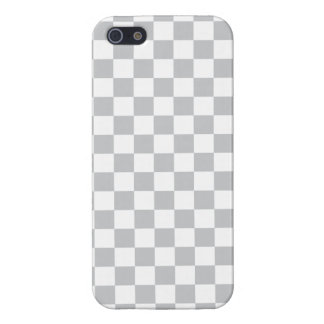 Light Grey Checkerboard Case For iPhone 5/5S