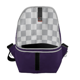 Light Grey Checkerboard Commuter Bag
