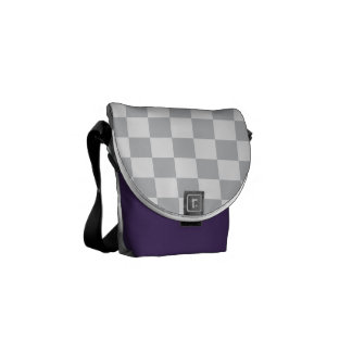Light Grey Checkerboard Commuter Bags