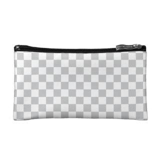 Light Grey Checkerboard Cosmetics Bags