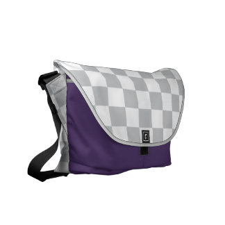 Light Grey Checkerboard Courier Bags