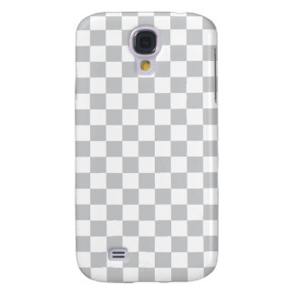 Light Grey Checkerboard Galaxy S4 Covers