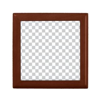 Light Grey Checkerboard Gift Box