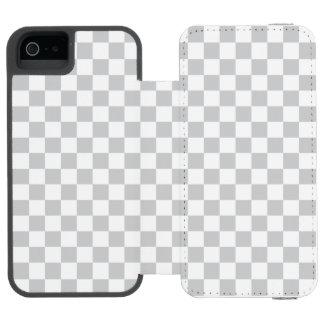 Light Grey Checkerboard Incipio Watson™ iPhone 5 Wallet Case