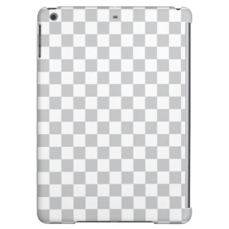 Light Grey Checkerboard iPad Air Cover