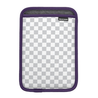 Light Grey Checkerboard iPad Mini Sleeve