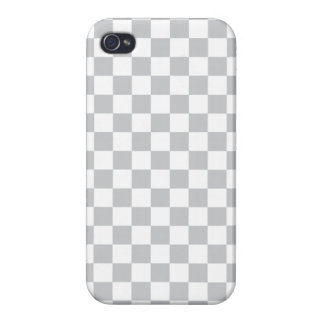 Light Grey Checkerboard iPhone 4/4S Case