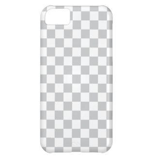 Light Grey Checkerboard iPhone 5C Case