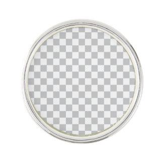 Light Grey Checkerboard Lapel Pin
