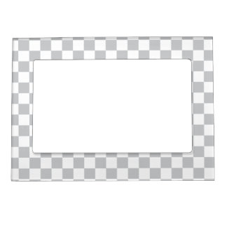 Light Grey Checkerboard Magnetic Picture Frame