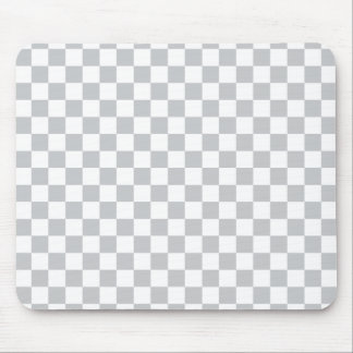 Light Grey Checkerboard Mouse Pad