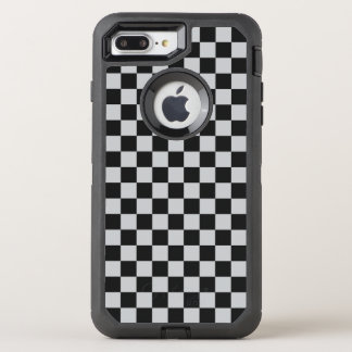Light Grey Checkerboard OtterBox Defender iPhone 8 Plus/7 Plus Case