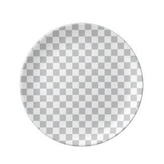 Light Grey Checkerboard Plate