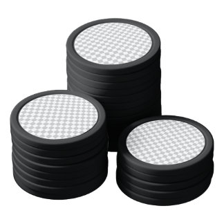 Light Grey Checkerboard Poker Chips