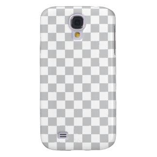 Light Grey Checkerboard Samsung Galaxy S4 Cover