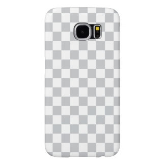 Light Grey Checkerboard Samsung Galaxy S6 Cases