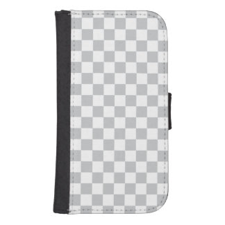 Light Grey Checkerboard Samsung S4 Wallet Case
