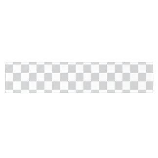 Light Grey Checkerboard Short Table Runner