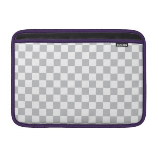 Light Grey Checkerboard Sleeve For MacBook Air