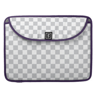 Light Grey Checkerboard Sleeve For MacBook Pro