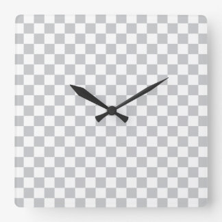 Light Grey Checkerboard Square Wall Clock