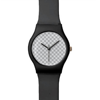 Light Grey Checkerboard Watch