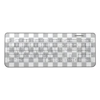 Light Grey Checkerboard Wireless Keyboard