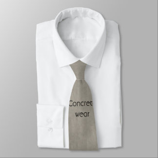 Light Grey Concrete Construction Worker  Tie