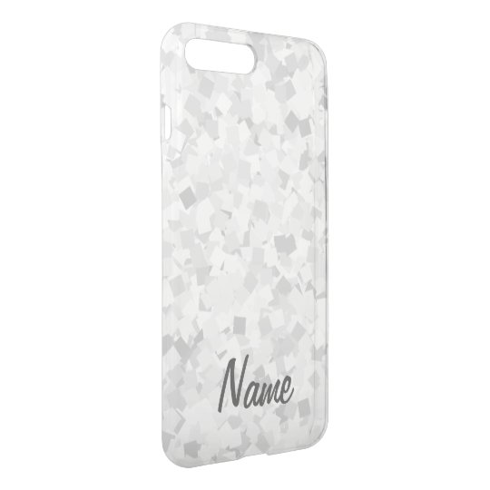 Light grey confetti design iPhone 7 plus case