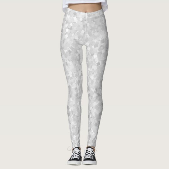 Light grey confetti design leggings