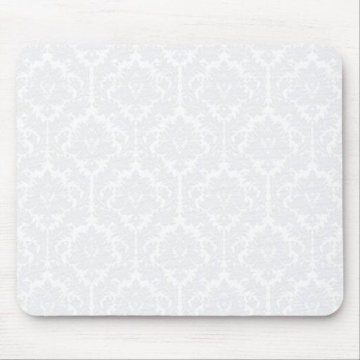 Light Grey Damask pattern Mousepads