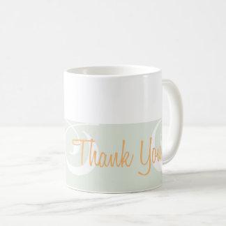 Light-grey Decorative Band Thank You Mug