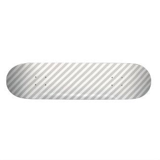 Light Grey Diagonal Lines Skate Board