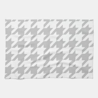 Light Grey Houndstooth Tea Towel