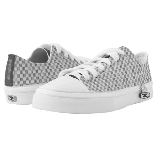 Light grey Louis Vuitton style Low Top Shoes Printed Shoes
