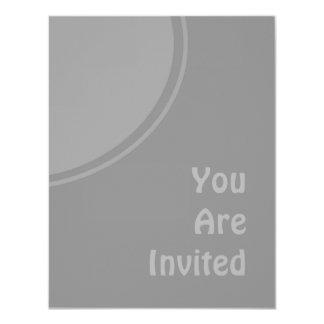 Light Grey Modern Party Invite