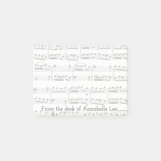 Light Grey Music Background Post-it Notes