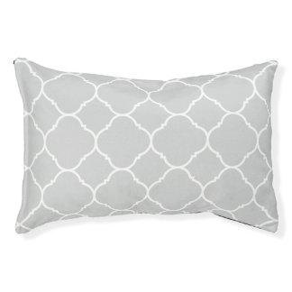 Light Grey Quatrefoil Pattern Dog Bed