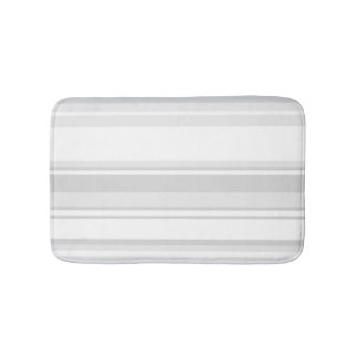 Light grey stripes bath mats
