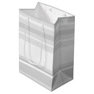 Light grey stripes medium gift bag