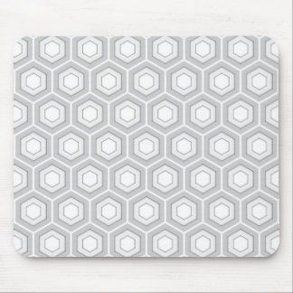 Light Grey Tiled Hex Mouse Pad