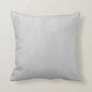 Light Grey Vintage Leather Look Cushion